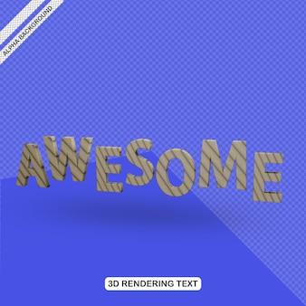 Efecto de texto 3d impresionante render gratis