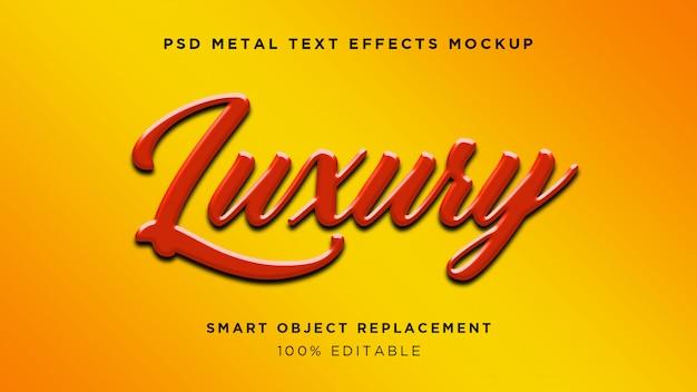 Efecto de texto 3d de lujo