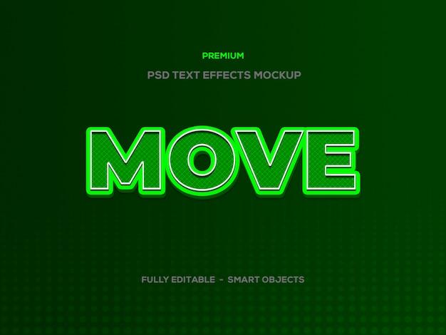 Efecto de texto 3d move