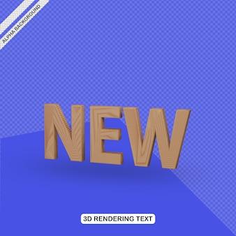 Efecto de texto 3d nuevo renderizado