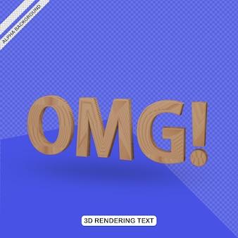 Efecto de texto 3d omg render