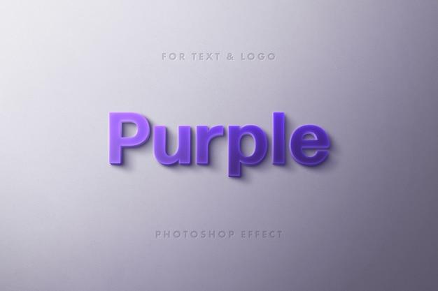 Efecto de texto 3d púrpura
