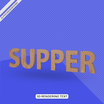 Efecto de texto 3d render de cena
