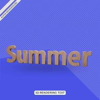 Efecto de texto 3d render de verano
