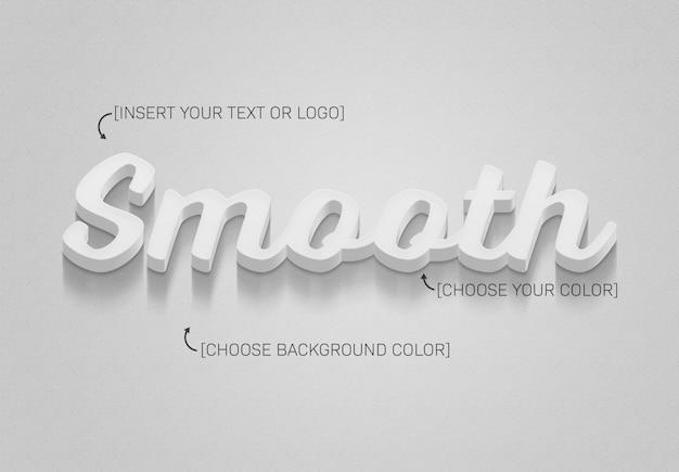 Efecto de texto 3d con sombra y color totalmente editable.