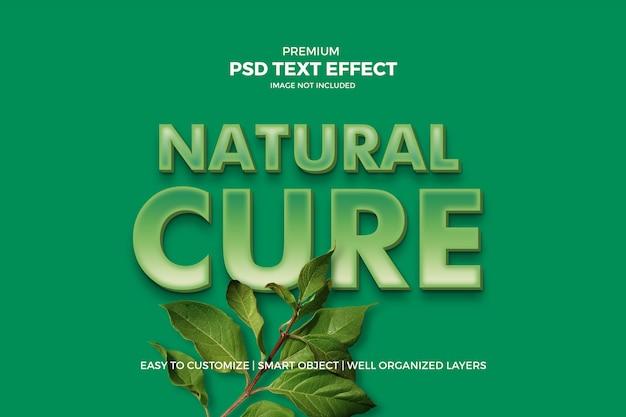 Efecto de texto 3d verde natural