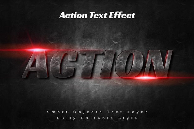 Efecto de texto de acción