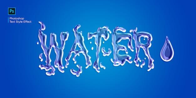 Efecto de texto de agua líquida