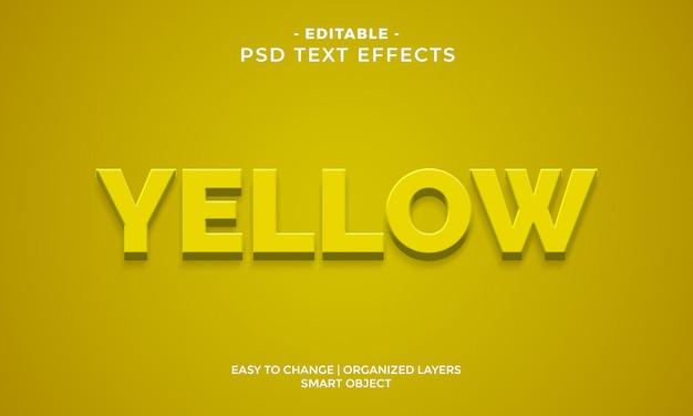 Efecto de texto amarillo colorido moderno