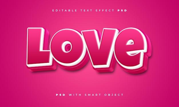 Efecto de texto de amor