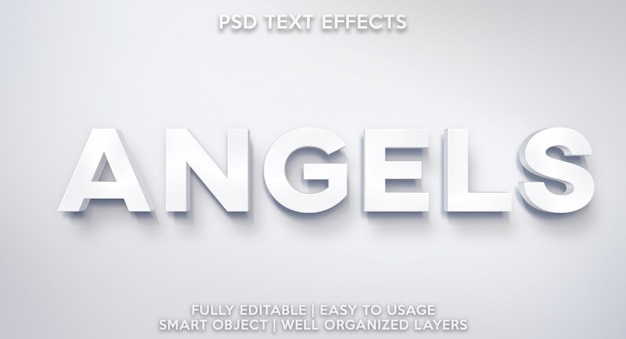 Efecto de texto de los ángeles