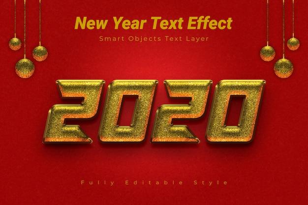 Efecto de texto de año nuevo
