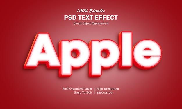 Efecto de texto de apple