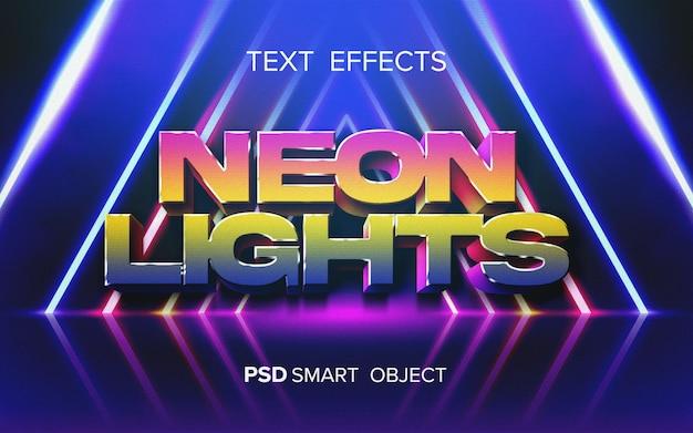 Efecto de texto arcade abstracto PSD gratuito