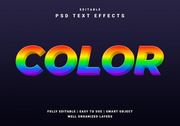Efecto de texto del arco iris moderno