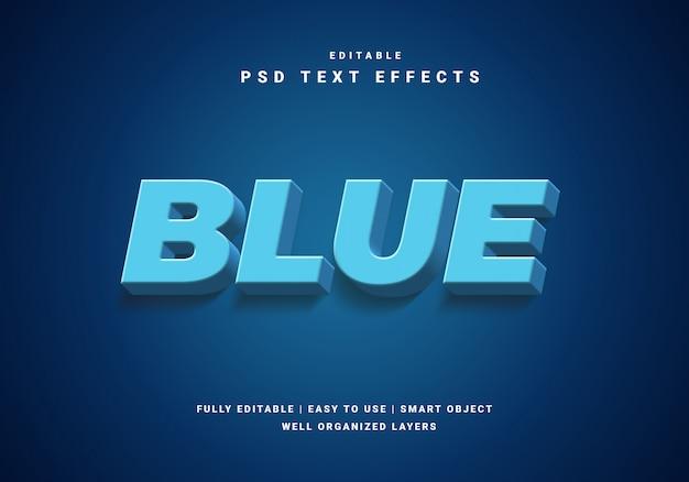 Efecto de texto azul 3d