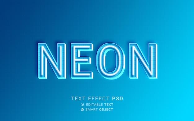 Efecto de texto azul neón