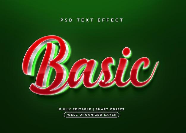 Efecto de texto básico de estilo 3d