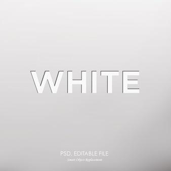 Efecto de texto blanco