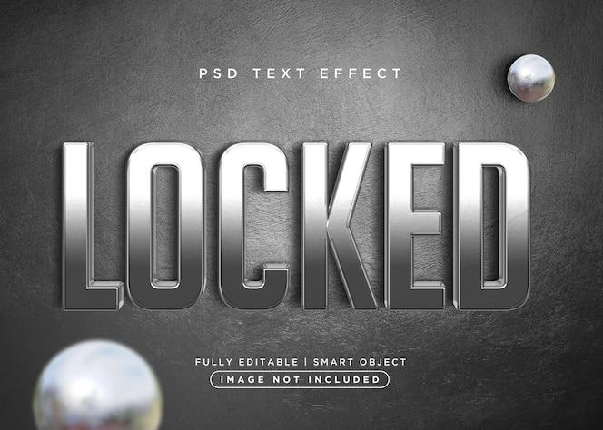 Efecto de texto bloqueado estilo 3d
