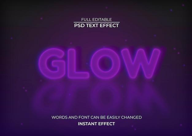 Efecto de texto brillante