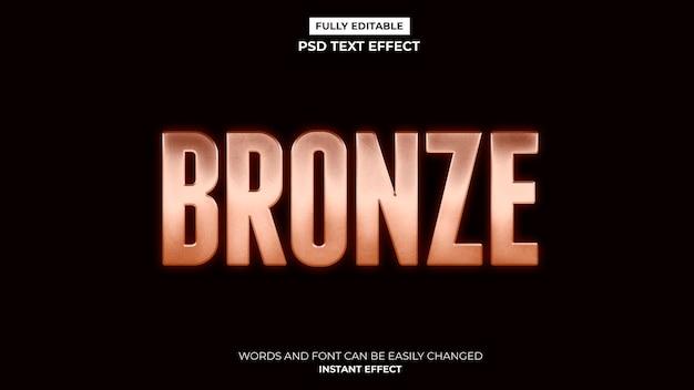 Efecto de texto de bronce brillante