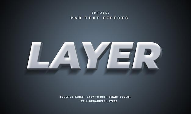 Efecto de texto de capa 3d moderno
