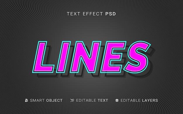 Efecto de texto de capas