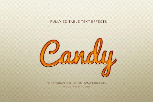 Efecto de texto de caramelo