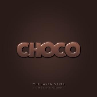 Efecto de texto de chocolate
