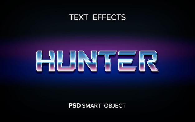 Efecto de texto de ciencia ficción.