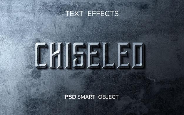 Efecto de texto cincelado abstracto