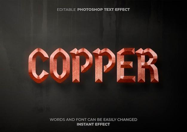 Efecto de texto de cobre