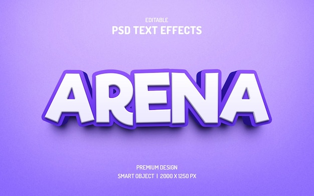 Efecto de texto de color púrpura creativo
