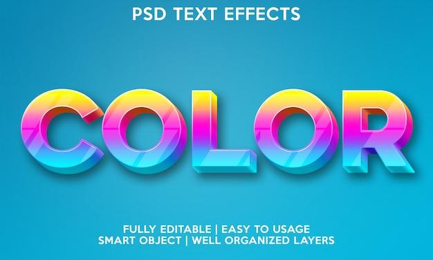 Efecto de texto en color
