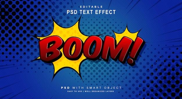 Efecto de texto cómico boom