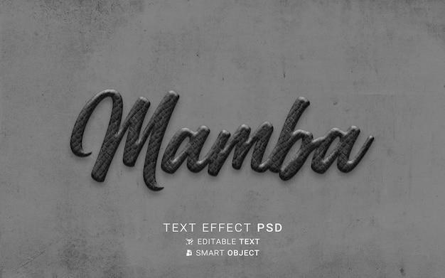 Efecto de texto creativo mamba