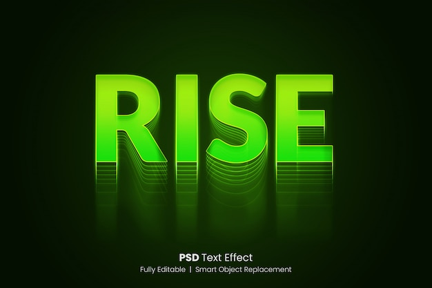 Efecto de texto creciente