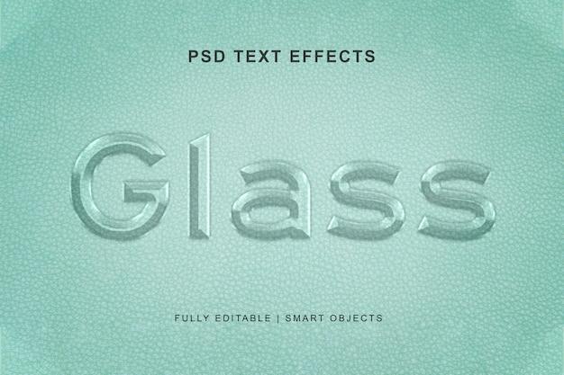 Efecto de texto de cristal y estilo de efecto de texto