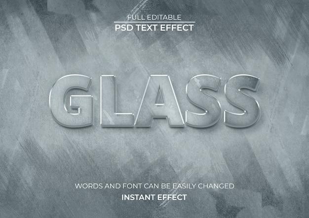 Efecto de texto de cristal