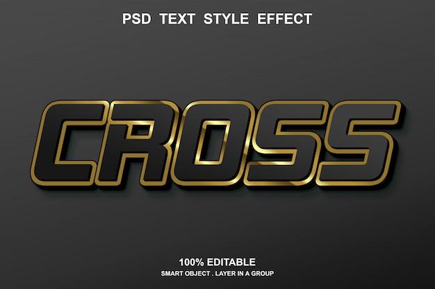 Efecto de texto cruzado