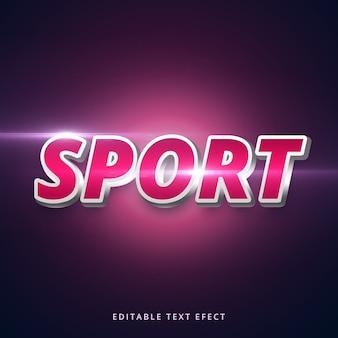 Efecto de texto de deporte de trazo editable