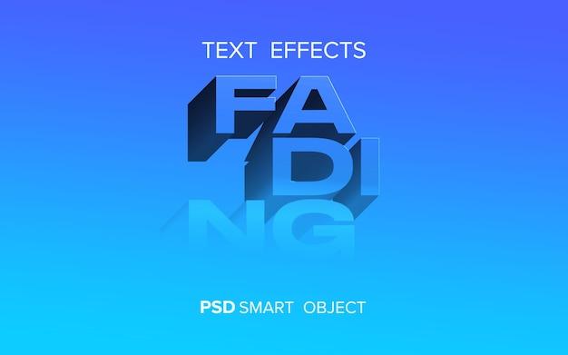Efecto de texto de desaparición creativo