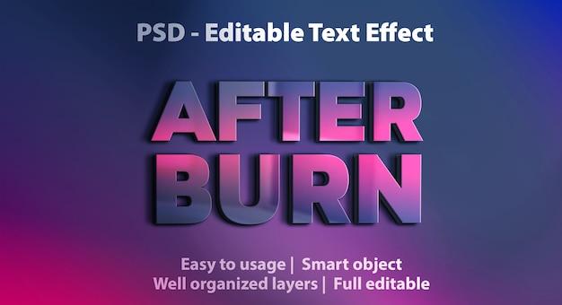 Efecto de texto después de la plantilla de grabación