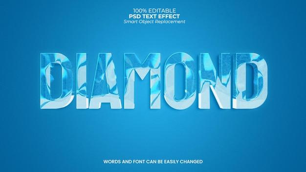 Efecto de texto de diamante