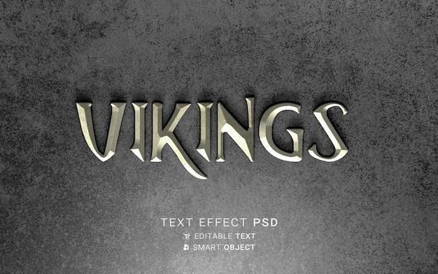 Efecto de texto diseño vikingo.