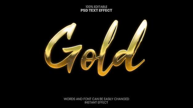 Efecto de texto dorado brillante