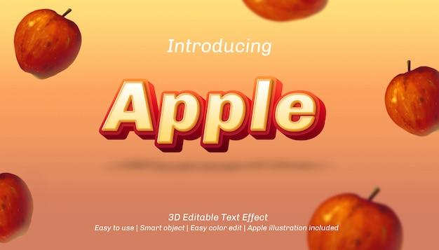 Efecto de texto editable 3d de apple