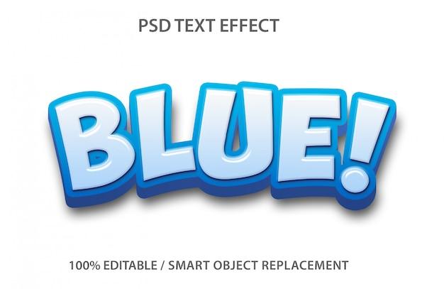 Efecto de texto editable azul