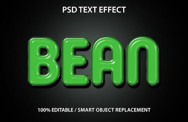 Efecto de texto editable bean